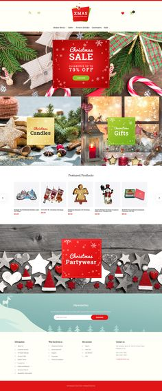 Magento Theme , Xmas - Christmas Gifts Store Responsive