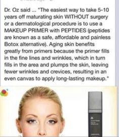 Arbonne Primer - amazing! www.facebook.com/fitismyfabulous fitandfabulouscoach1@gmail.com to order!