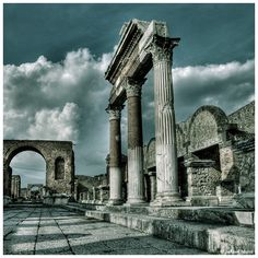 """Glory in ruins"" Pompei, Italy"
