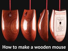 How to create a wooden mouse . . . You need CAD software, a CNC milling machine, a lot of spare time and even more persistence.  Wooden mice by AlestRukov  Read about the various steps involved here at http://www.instructables.com/id/Wooden-mice-by-AlestRukov/?ALLSTEPS#