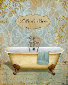 Brissonnet Daphne Salle de Bain I, Digitaldruck, Poster