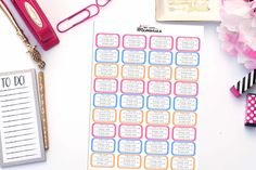 CHRONIC PAIN DAILY TRACKING Planner Stickers!