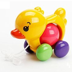 Toddler Kids Baby Toys Traditional Pull Along Duck Dog Plastic Toys For Children Sounds Toy Newbrons Baby Learn Walk Toy Rattles Preschool Toys, Toddler Preschool, Toddler Toys, Kids Toys, Duck Toy, Hobby Toys, Baby Rattle, Toddler Learning, Baby Design