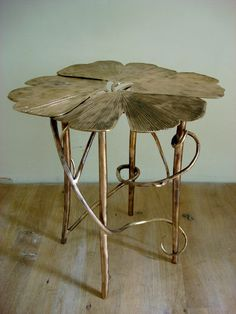 Art Nouveau Side Table, Gingko Guéridon II, 2007), François-Xavier and Claude Lalanne.