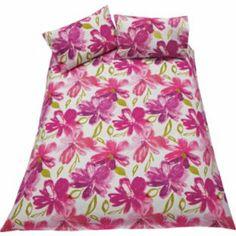 Buy Watercolour Floral Plum Duvet Cover Set - Double at Argos.co.uk - Your Online Shop for Duvet cover sets.