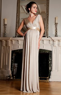 Anastasia Maternity Gown (Gold Dust) by Tiffany Rose Love this for the Ball!