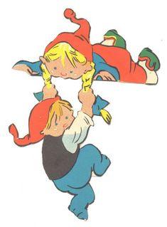 DANISH Kravlenisser  | ENGLISH Crawl Gnomes {Elves, Goblins, Pixies} by Iben Clante early 1960s.