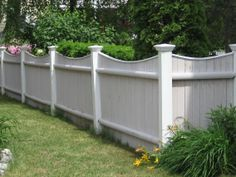 scallop privacy fence large posts - Google Search