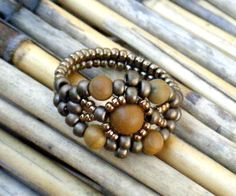Bead Woven Set - Matriarch Ring, Earrings & Bangle | JewelryLessons.com