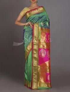 Asha Dual Color Standout Pallu Real Zari #PaithaniSilkSaree
