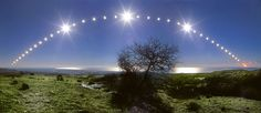 Sun's path during the 2005 December Solstice. Credit and Copyright: Danilo Pivato