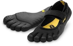 Vibram FiveFingers Sprint Multisport Shoes.  These are great for walking around.  They are a good break from boots and running shoes.