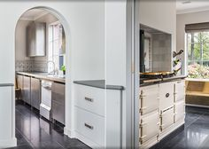 Modern-classic kitchen with AGA-stove, design Babs Appels
