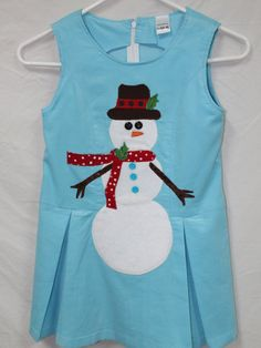 Light Blue Corduroy Snowman Jumper by DollyWollySewing on Etsy