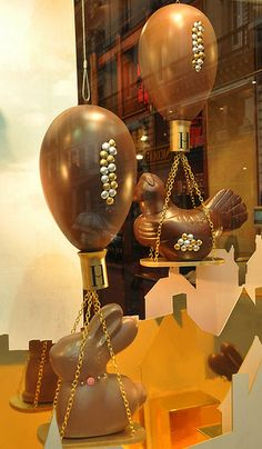 Chocolate Balloons and Chickens for Easter