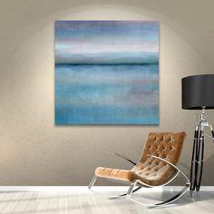 "Latitude Run Mirror Lake Scape Aqua Painting Print on Wrapped Canvas Size: 36"" H x 36"" W x 2"" D"