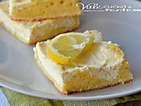 Quadrotti soffici di ricotta e limone ricetta dolce veloce
