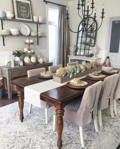 """Shabby Sally on Instagram: """"@willowbloomhome we love your Dining Room and Decor #repost SWIPE ➡️ for more! 😍🤤👏🏻🍁🍂 #shabbysally #shabbychicdecor #shabbychic…"""" Dinning Table, Dining Bench, Dining Chairs, Dining Room, Boy Toddler Bedroom, Living Room Decor, Bedroom Decor, Shabby Chic Decor, Fine Dining"""