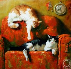 Maria Pavlova Cat Paintings