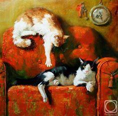 Maria Pavlova Cat Paintings