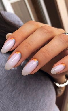 Nail Art Designs, Pretty Nail Designs, Summer Manicure Designs, Pink Ombre Nails, Pin On, Luxury Nails, Neutral Nails, Powder Nails, Us Nails
