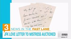 JFK Love Letter to Mistress up at RR Auction
