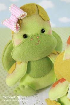 Baby Tartaruga! Peças presentes em minha Apostila Digital Baby Pets. Para conhecer acesse: www.boutiquedofeltro.com