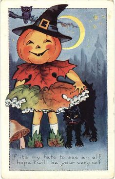 Whitney Halloween Poem Owl Black Cat J-O-L Girl Embossed Postcard Vintage Halloween Cards, Halloween Poems, Halloween Prints, Halloween Pictures, Vintage Holiday, Holidays Halloween, Vintage Cards, Vintage Postcards, Halloween Pumpkins