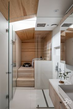 Saunas in style Design Your Own Bathroom, Modern Bathroom Decor, Bathroom Interior, Sauna Design, Cabin Design, House Design, Sauna Shower, Sauna Room, Lets Stay Home