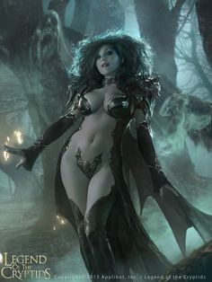 Vampire Queen Fantasy Art for LEGEND OF THE CRYPTIDS - News - GeekTyrant