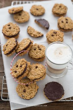 Sweets Recipes, Real Food Recipes, Cookie Recipes, Biscuits, Gluten Free Peanut Butter, Biscotti Cookies, Chocolate Filling, Food Obsession, Italian Desserts
