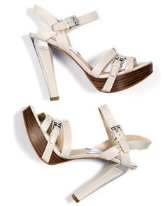MICHAEL Michael Kors  Grace Leather Buckle Platform Sandal. Fifteen years, and 20 lbs ago, these would have been mine:)!