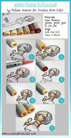 Copic - Skin Tutorial (if I could use them I could buy more!)