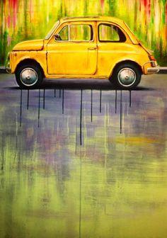 Car art! Fiat 500 Poster