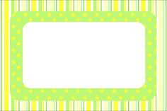 Green and Yellow - Full Kit with frames for invitations, labels for goodies, souvenirs and pictures! | Making My Party