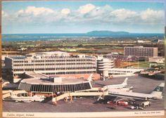 Irish Postcard DUBLIN AIRPORT Aer Lingus Planes Ireland D Noble John Hinde 4x6