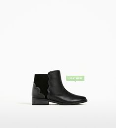 SCALLOPED LEATHER ANKLE BOOTS-Collection-SPECIAL PRICES-GIRL | 4-14 years-KIDS | ZARA United Kingdom
