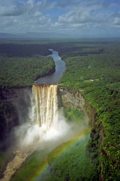 Kaieteur Falls, Guyana. the largest drop water fall in the world.