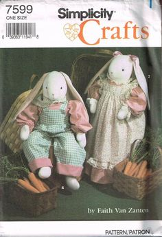 "Faye Wine Country primitive block bunny rabbit pattern 24/"" doll greeter boy girl"