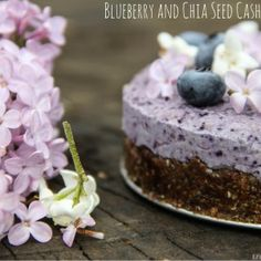 Blueberry Chia Seed Cashew Cake Recipe
