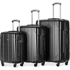 Merax 3 Piece P.T Luggage Set Eco-friendly Light Weight Spinner Suitcase Couple Gifts For Her, Best Gifts For Her, Unique Gifts For Her, Valentines Gifts For Her, Christmas Gifts For Her, Birthday Gifts For Her, Suitcase Set, Spinner Suitcase, Best Luggage