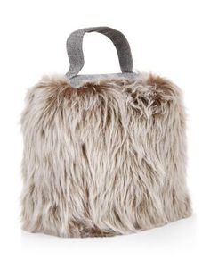 Keep doors open while adding a rustic feel to a room with our Grey Geo Fur Doorstop. £9.99 #newlook #homeware #interior