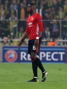 Manchester United's French midfielder Paul Pogba is pictured during the UEFA Europa League football Fenerbahce SK vs Manchester United at the Fenerbahce Ulker Stadium on November 3,2016 in Istanbul.   / AFP / STRINGER