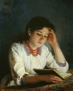 Reading by Ilya Savvich Galkin born 1860 in Russia died 1915 in Russia