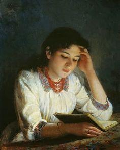 Reading by Ilya Savvich Galkin born 1860 in Russia died 1915 in Russia