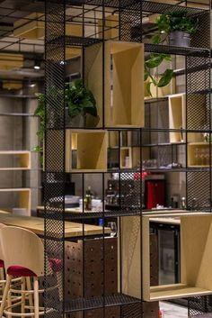 Gallery of Point Theatre / Lama Arhitectura - 23 . - Best Home Decorating Ideas - Easy Interior Design and Decor Tips Shelf Design, Design Case, Office Interior Design, Office Interiors, Interior Livingroom, Interior Design Magazine, Cafe Design, House Design, Flur Design