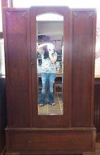 antique english mahogany armoire wardrobe wmirror antique english mahogany armoire furniture