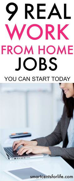 There are many opportunities to start working from home and make money. Check out this list of 9 legitimate work from home jobs that you can start today with no experience at all. These work from home ideas are perfect for moms or anyone trying to find a
