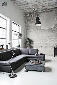 Una sala de estilo nordico e industrial! Inspirate para tener un interior autentico!