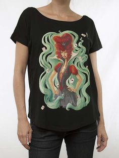 Queen of hearts Negro 91 Queen Of Hearts, Madrid, T Shirts For Women, Woman, Mens Tops, Fashion, Moda, Fashion Styles, Fasion